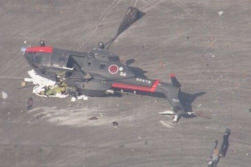 Наавиабазе вЯпонии рухнул военный вертолёт